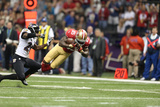 Super Bowl XLVII: Ravens vs 49ers - Vernon Davis Photographic Print by Ben Liebenberg