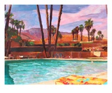 The Palm Springs Pool Reproduction procédé giclée Premium par Markus Bleichner