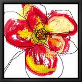 Red Petals Framed Canvas Print by Jan Weiss