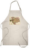 Austria-Hungary - Panoramic Map Apron Apron