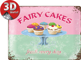Fairy Cakes Tin Sign