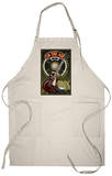 Nashville, Tennessee - Guitar and Microphone Apron Apron
