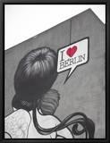 I Love Berlin' Mural on Building, Berlin, Germany Kehystetty canvastaulu tekijänä Jon Arnold