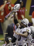 Super Bowl XLVII: Ravens vs 49ers - Ed Reed Photographic Print by Gerald Herbert