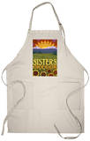 Sisters, Oregon - Mountains and Meadow Quilt Design Apron Apron