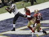 Super Bowl XLVII: Ravens vs 49ers - Anquan Boldin Photo av Gerald Herbert