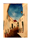 Alpujarra - The white village in Andalucia Premium Giclee Print by Markus Bleichner
