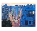 New York City - Flatiron Building at Night Premium Giclee Print by Markus Bleichner