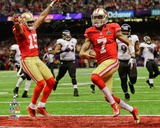 Colin Kaepernick Touchdown Super Bowl XLVII Photo