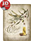 Olive Italiane Plaque en métal