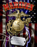Marine Corps Tin Sign