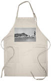 Honolulu, Hawaii - Surfers off Waikiki Beach Photograph Apron Apron
