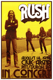 Rush In Concert 1974 Poster