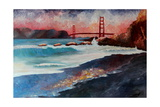 San Francisco Golden Gate at Dawn Reproduction giclée Premium par Markus Bleichner