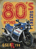 80's Icons - Suzuki Plaque en métal