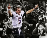 Joe Flacco Super Bowl XLVII Spotlight Celebration Photo
