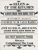 Rules of The Kitchen Znak drewniany