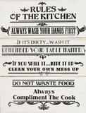 Rules of The Kitchen - Ahşap Tabela