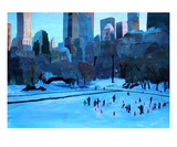 New York City Central Park Winter Ice Premium Giclee Print by Markus Bleichner