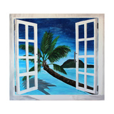 Window to Paradise Beach Premium Giclee Print by Martina Bleichner