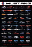 Ford Mustang Evolution Car Posters