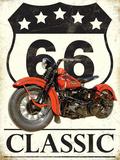 66 Classic Plaque en métal