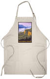 Columbia River Gorge Scene with Crown Point Apron Apron