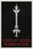 Loved By Good Feared By Evil Retro Plakát