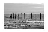 Beach Scene at Outer Banks Print by Martina Bleichner