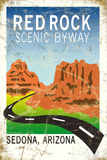 Red Rock scenic byway Tin Sign
