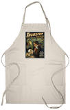 Thurston the Great Magician Holding Skull Magic Apron Apron