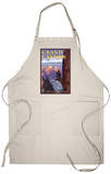 Grand Canyon National Park, Arizona, Mule Train Scene Apron Apron