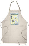 Charleston, South Carolina - Nautical Chart Apron Apron