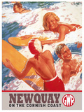 Newquay Tin Sign