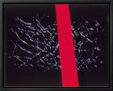 Abstract Image in Black and Red Leinwandtransfer mit Rahmung von Daniel Root