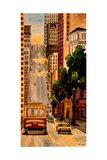 San Francisco Van Ness Cable Car Premium Giclee Print by Markus Bleichner