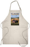 Bison and Calf Grazing - Yellowstone National Park Apron Apron