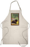 Black Bear in Forest, Glacier National Park, Montana Apron Apron