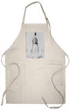 Sitting Bull Native American with Peace Pipe Photograph - Bismarck, ND Apron Apron
