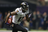 Super Bowl XLVII: Ravens vs 49ers - Jacoby Jones Photographic Print by Ben Liebenberg