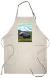 Yellowstone Nat'l Park - Moose & Mountain Apron Apron