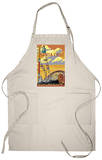 Santa Cruz, California - Beach Boardwalk Apron Apron