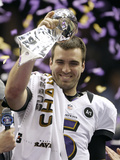 Super Bowl XLVII: Ravens vs 49ers - Joe Flacco Photographic Print by David Goldman