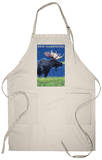 New Hampshire - Moose in the Moonlight Apron Apron