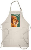 Visit the Zoo, Lion Up Close Apron Apron