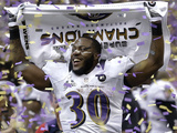 Super Bowl XLVII: Ravens vs 49ers - Bernard Pierce Photographic Print by Marcio Sanchez