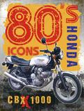 80's Icons - Honda Plaque en métal