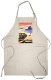 Cannon Beach, Oregon - Woody and Haystack Rock Apron Apron