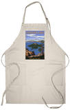 Crater Lake, Oregon - Wizard Island View, c.2009 Apron Apron