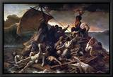 The Raft of the Medusa, 1819 Leinwandtransfer mit Rahmung von Théodore Géricault